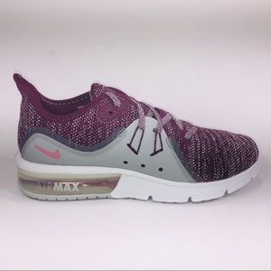 Womens Nike Air Max Sequent 3 Bordeaux Sneakers
